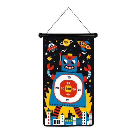 Janod Double-sided Magnetic Darts Game, Robots theme
